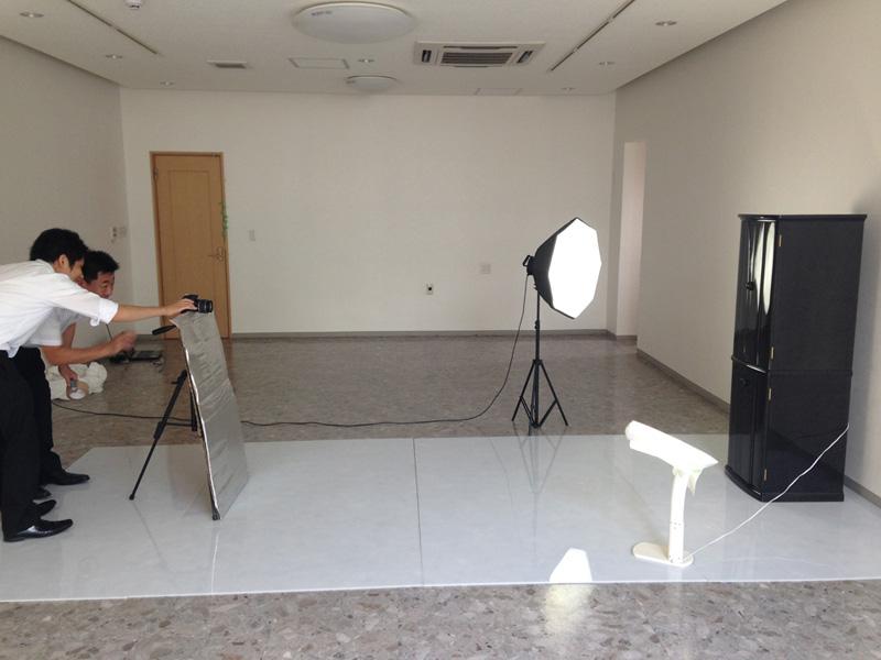 反射商品の写真撮影