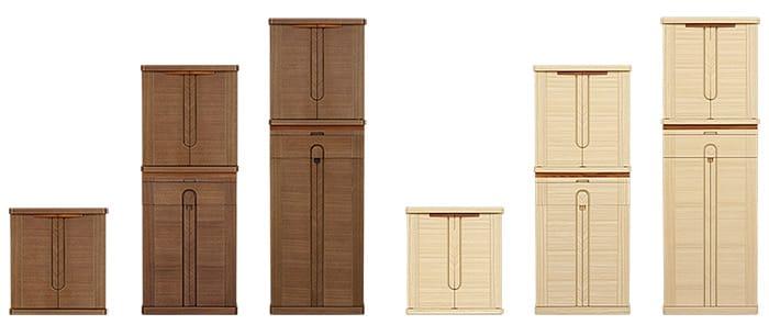 下台を入れ替えることができ3種類の高さ設定が可能